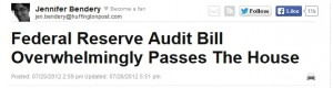 This Huff Po article can't be talking about Audit the Fed passing the House, because that's impossible.  Oh, what's that you say?